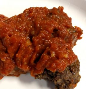 Superfood meatballs with spaghetti sauce