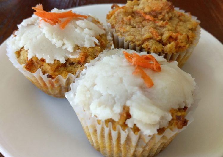 low carb carrot cupcakes