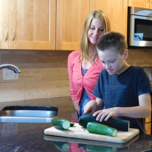 Cooking with son
