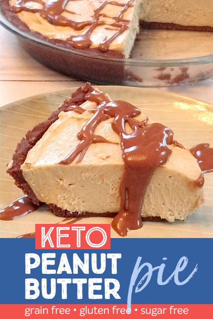 Keto Chocolate Peanut butter pie.