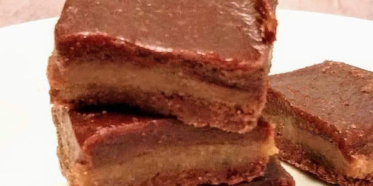 No Cook Paleo Caramel Fudge Bars (vegan, paleo, gluten free)