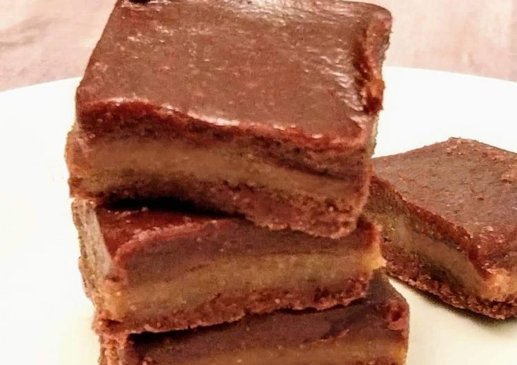 Paleo Caramel Fudge Bars