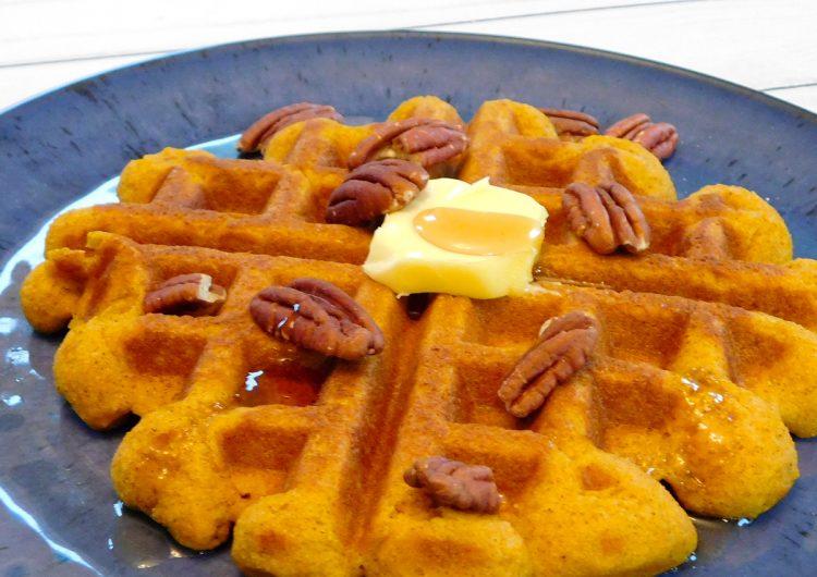 Paleo Pumpkin Waffles