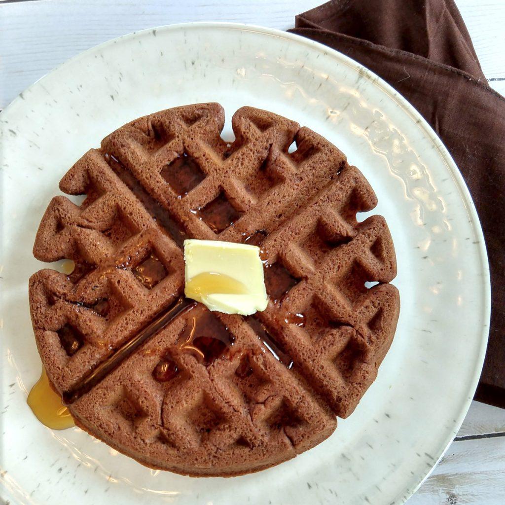 Chocolate brownie waffles