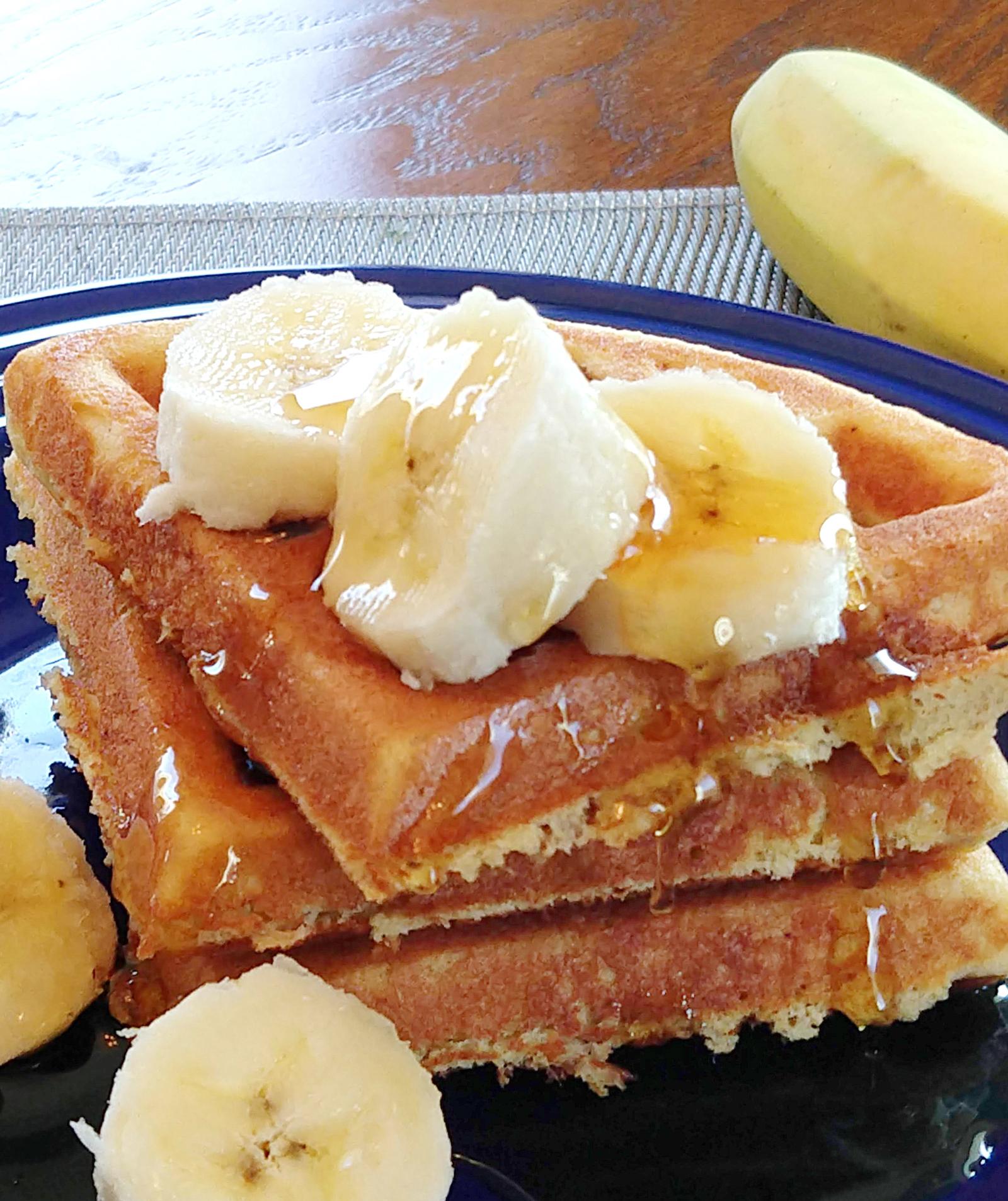 Banana Waffles • grain free, dairy free