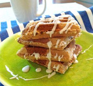 Cinnamon Roll Waffles (gluten free, dairy free, paleo)