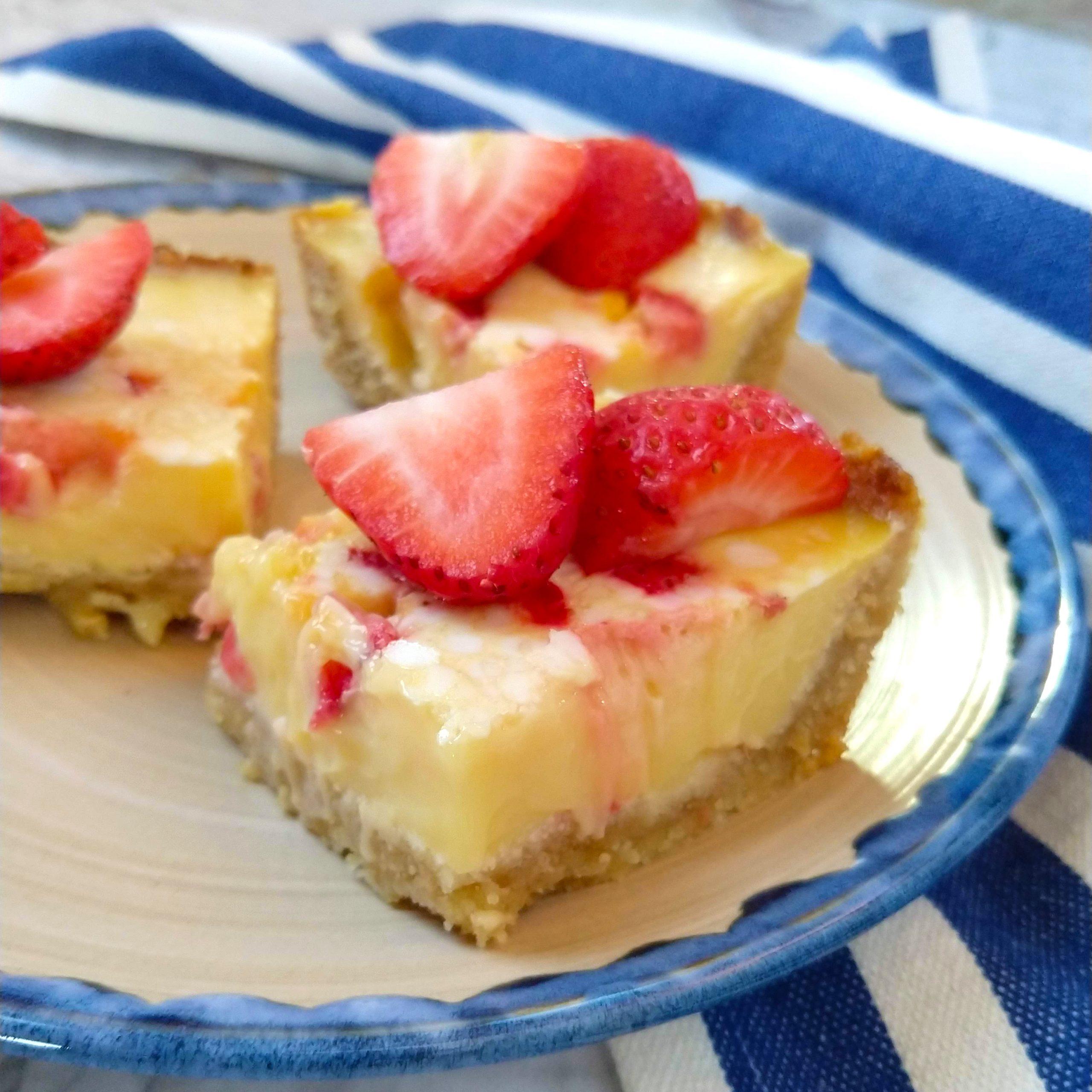 Strawberry Lemonade Bars (Dairy free + Keto & Paleo options)