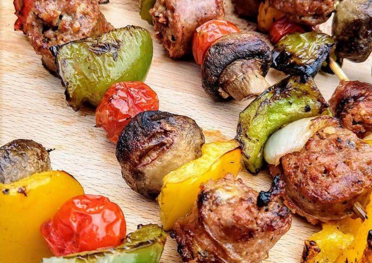 Grilled Italian Sausage Skewers