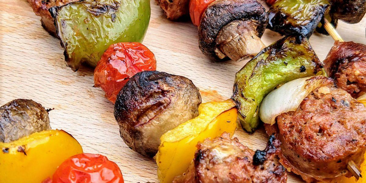 Italian Sausage Kebabs (low carb, paleo)